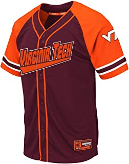 Colosseum Mens Virginia Tech Hokies Wallis Baseball Jersey