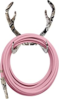 Pink Garden Hose & Cobra Hose Holder Kit - Flat Out Fabolous - Reindeer Style Water Hose Holder, Exclusive Water Hose, and a Matching Nozzle (Multiple Colors Available)