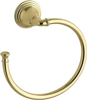KOHLER K-10557-PB Devonshire Bathroom Towel Ring, Vibrant Polished Brass