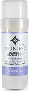 Noniko Natural Deodorant | Natural Deodorant, Sensitive Formula w/Magnesium Free of Baking Soda, Aluminum, Parabens, Animal Cruelty for Men & Woman Guarantee to Work All Day- Unscented - Single