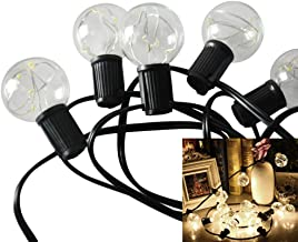LEDMOMO Globe String Lights G Ft Led Warm Globe Bulbs Outdoor Lights As Shown
