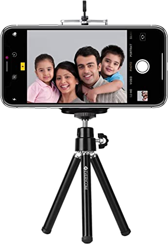 Everycom Mini Tripod With Mount Compatible With All Mobile Phones And Digital Camera Black