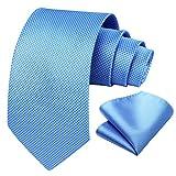 hisdern uomo houndstooth cravatta della festa di nozze fazzoletto cravatta & pocket square set