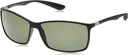 Ray-Ban Mens Liteforce Sunglasses (RB4179) Plastic,Carbon Fiber,Peek