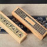 Caja de aromaterapia hueca de madera de bambú Caja de regalo de almacenamiento de incienso de bobina de incienso Auditorio budista Caja de embalaje de madera de agar