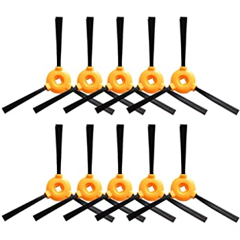 DoubleSun Replacment Part for Ecovacs DEEBOT N79-Side Brushes of Robotic Vacuum Cleaner Accessories 10pcs