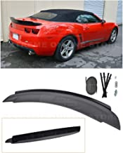 Extreme Online Store for 2010-2013 Chevrrolet Camaro | EOS ZL1 Style Rear Trunk Lid Wing Spoiler with Aluminum Glossy Black Center WickerBill Insert (ABS Plastic - Primer Black)