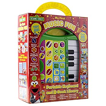 Sesame Street - My First Music Fun - Portable Keyboard and 8-Book Library - PI Kids