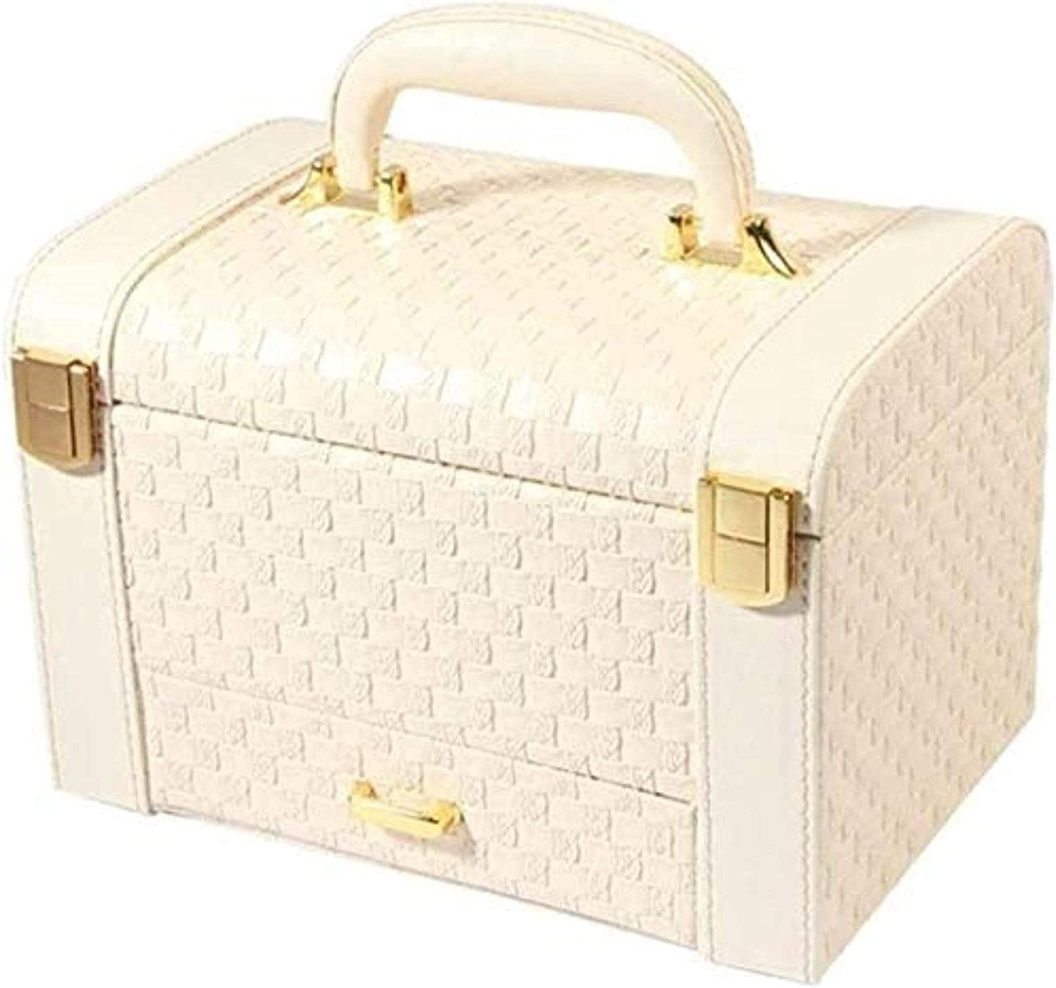 ZXCVBNN Large Capacity Max 48% OFF Jewellery Now free shipping Jeweller Leather Boxes Portable