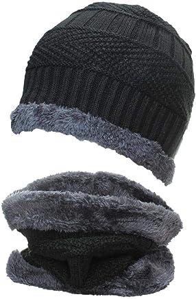 c5da9d5df88 Best Winter Hats Adult Insulated Beanie   Neck Warmer Set W Faux Fur Liner