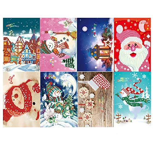 Tarjeta felicitación Navidad Tarjeta papel pintura