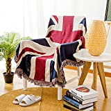 CaptainRay Blanket Throw cave Union Jack Bunting Fabric Eagles Cozy Bench Flag Mexican British Military Long arms amp United States reble Print Bath German Quilt English England Bronte(S:71'x51')