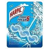 Harpic Power Fresh 6 Toilet Rim Block, Marine - 39 g