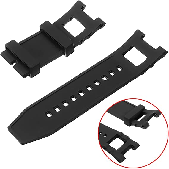 GGGarden 28mm Silicone Rubber Replacement Watch Strap Band for Invicta Subaqua Noma III Noma 3