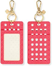 Kate Spade New York Id Badge Clip Key Chain, Coral Caning