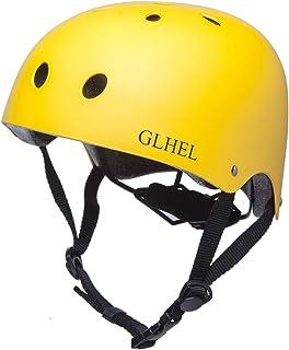 GLHEL Skateboard Helmet Impact Resistance Safe Helmet Multi Sport for Bike, Skates, Skateboards & Scooter Certified CPSC Adult&Kids Adjustable Dial Helmet with Multiple Colors&Sizes