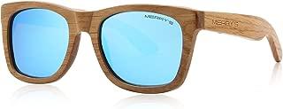 MERRY'S Men Wooden Polarized Sunglasses 100% UV...