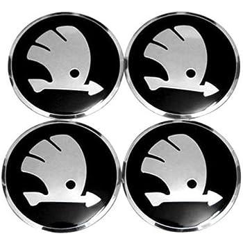 Black 4 x Skoda black 60mm Wheel Centre Cap Fabia Octavia Center Caps Base