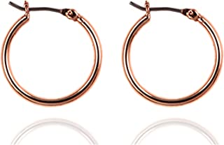 Nine West Classics Small Click Top Hoop Earrings for Women, Gold