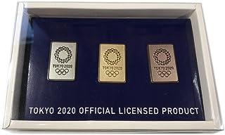 東京2020オリンピックエンブレム ピンバッジ 3個セット 四角(ゴールド/シルバー/ブロンズ)