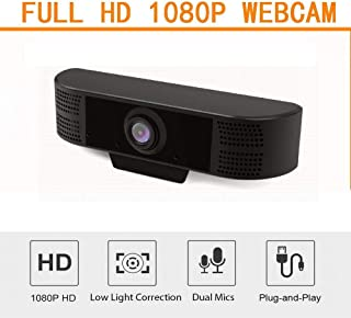 Anonyme HD 1080P Webcam Camera with MIC Clip-on USB2.0/3.0 for Computer PC Laptop Professional Black 1080P