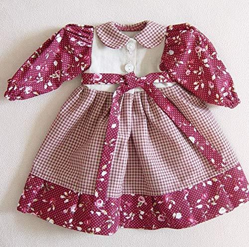 Puppenmode Sturm 1321-1 Kleid im Landhausstil für Puppen, Mehrfarbig