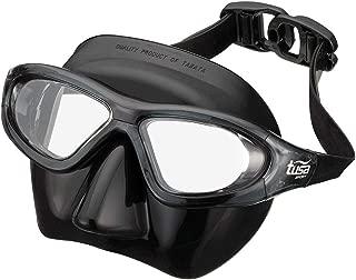 TUSA Sport 成人自由潜水面罩,黑色/烟灰色