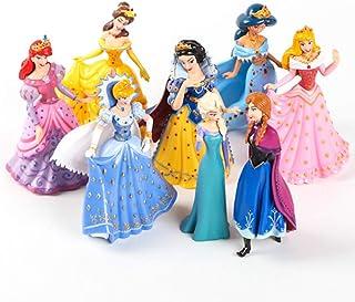 EASTVAPS 8 unids Figura Juguete Congelado Cenicienta Bella Durmiente Blancanieves Sirena Princesa Decoración de Pasteles