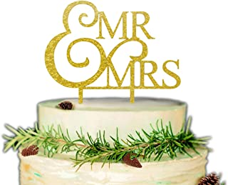 Mr & Mrs Cake Topper, Bride and Groom Cake Topper- Wedding, Bridal Shower,Anniversary Party Supplies