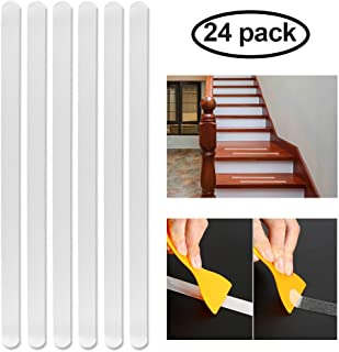YBLNTEK Adhesive Bath Treads Non Slip Shower Stickers Strips with Scraper 24 pcs