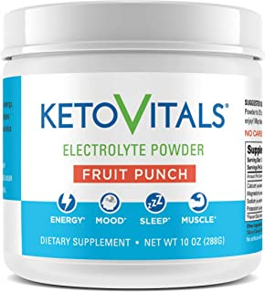 Keto Vitals Electrolyte Powder | Keto Friendly Electrolytes with Potassium, Magnesium, Sodium & Calcium | Keto Electrolyte...