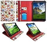 Kiano SlimTab 8 Multi Animal Universal 360 Grad Wallet Schutzhülle Folio mit Kartensteckplätzen ( 7 - 8 zoll ) von Sweet Tech