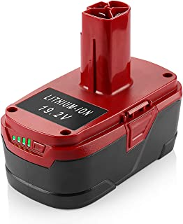 Powilling 5.0Ah 19.2 Volt Lithium Battery Replacement for Craftsman C3 Battery XCP Craftsman 19.2 Volt Battery 130279005 1323903 130211004 11045 315.115410 315.11485 etc