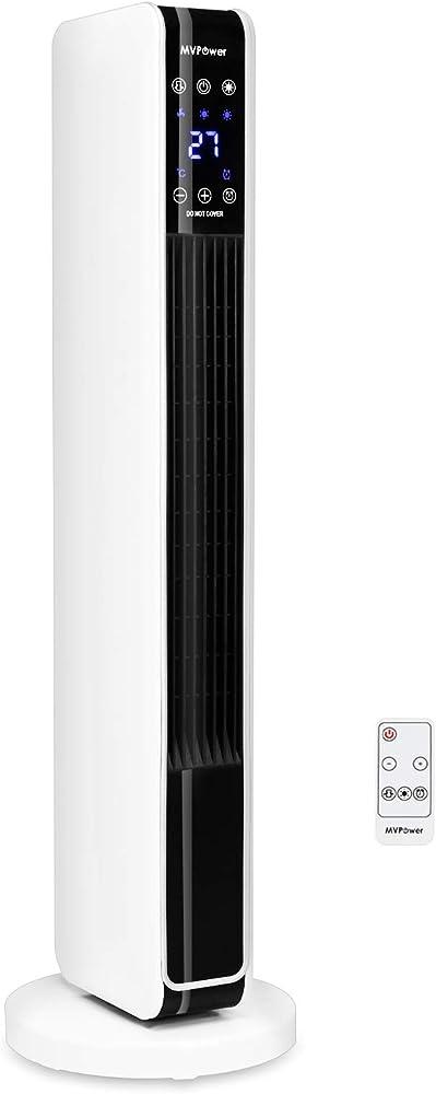 Mvpower termoventilatore, led touch screen con telecomando