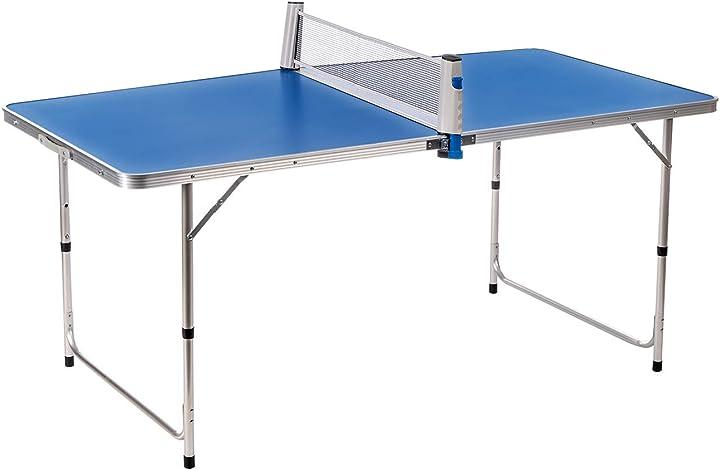 Tavolo da ping pong pieghevole completo di racchette e pallina, con struttura regolabile enrico coveri B08Z4HNTBB