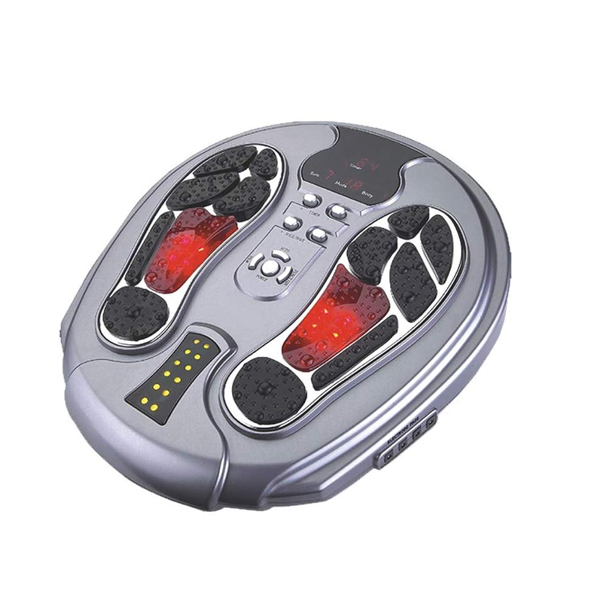 手つかずのキャロライン時計回り電動フットマッサージャー、EMSフット血液循環マッサージブースター、99の強さ、25のマッサージモード、足&ボディセラピーマシン
