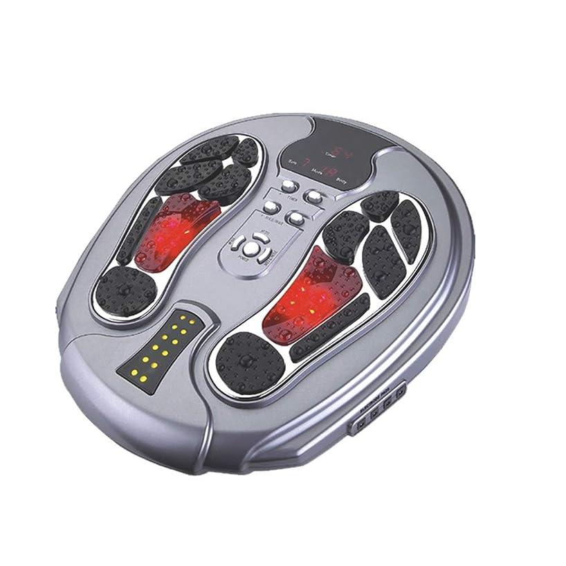 暖炉泥だらけサージ電動フットマッサージャー、EMSフット血液循環マッサージブースター、99の強さ、25のマッサージモード、足&ボディセラピーマシン