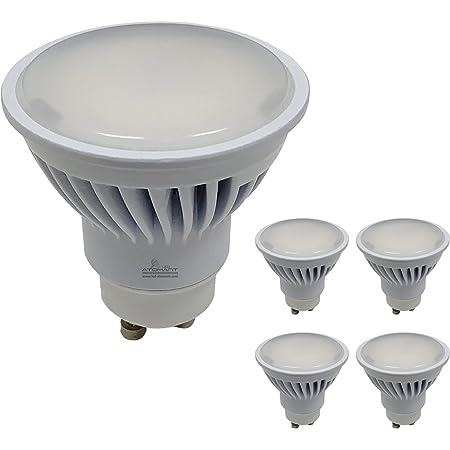 Pack 5x GU10 LED 8,5w Potentísima. Color Blanco Neutro (4500K). 970 Lúmenes. Única con ángulo de 120 grados.