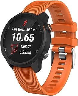 HAWEEL Bands Sports Wristbands Straps, Smart Watch Silicone Wrist Strap Watchband for Garmin Forerunner 245(Army Green)