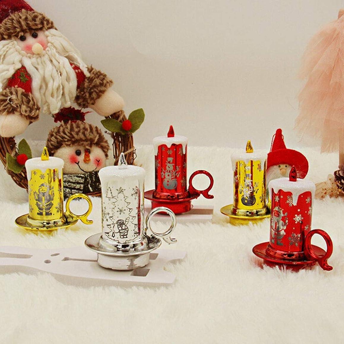 アリ機密熟読するWERULIG クリスマスの装飾ライト キャンドル型ライト クリスマス飾り デコレーション 多色点滅ライト 特別な外観 アクセサリー 雰囲気作り LED照明 電池式 カラーランダム