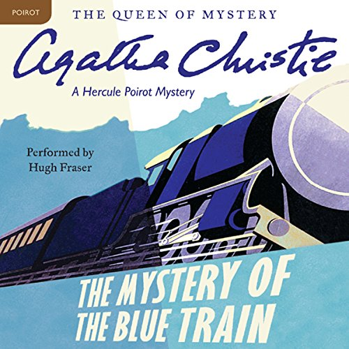 The Mystery of the Blue Train audiobook cover art