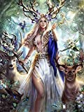 Diamond Painting Kits for Adults/kids DIY 5D Ciervo Reina,Full Drill Crystal Rhinestone by Number Canvas Painting Set Embroidery Cross Stitch Arts Craft for Home Wall Decor 30x40cm(11.8x15.8in)D41270