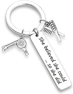 EIGSO Hairdresser Gift Hairdresser Keychain Bracelet She Believed She Could Appreciation Employee Gift for Her