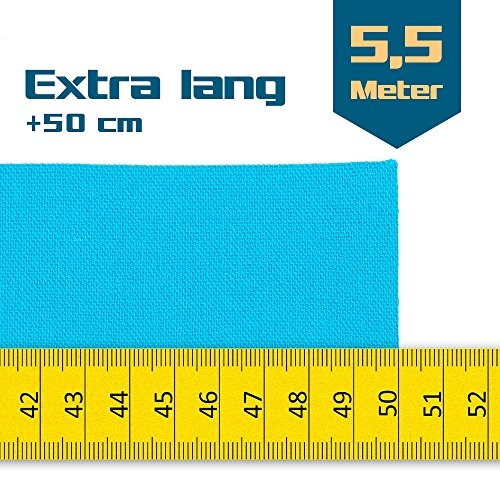 SL StarTape Kinesiologie Tape 6er Set inklusive Schere – Sporttape Rollen 5 cm breit und 550 cm lang – Pflaster Tapes - 2