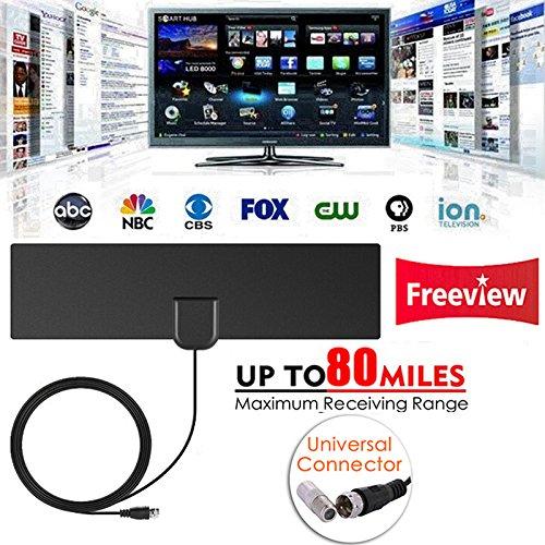 ShiningXX Indoor Free TV Surf Radius Antenne Digital HDTV Kabel TV Fox Antenne DVB-T/T2 VHF UHF TVSurf Antennen Receiver