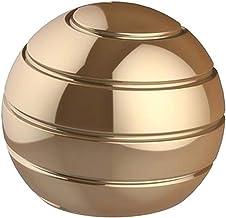 CaLeQi Desktop Ball Transfer Gyro Aluminum Alloy Kinetic Desk Toy Stress Relief Office Executive Gadgets Metal Ball Full D...