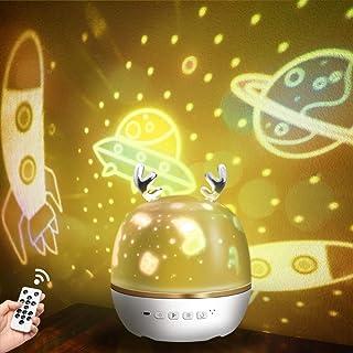 【令和進化版】Bluetooth対応&リモコン・タイマ付き ZEROTONE スタープロジェクターライト 星空ライト ベッドサイドランプ Bluetooth対応スピーカ 音楽再生 6種類投影映画フィルム プラネタリウム ロマンチック雰囲気作り ...