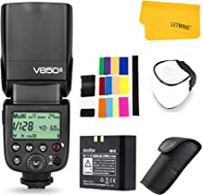 Godox V850II Ving GN60 2.4G 1/8000s HSS Camera Flash Speedlight with 2000mAh Li-ion Battery Features 1.5s Recycle time and 650 Full Power Pops Compatible for Canon Nikon Pentax Olympas
