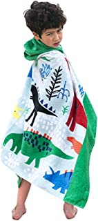Bavilk Kids Children Hooded Towel Dinosaur Swim Beach Bath Towel Pool Cover Up Girls Boys