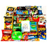 Good Vibes Original Care Package (25 Count) Snack Box- Assortment of Chips, Crackers, Candy, Cookies, Bars for kids of all ages, College, Military, Office Co-workers, Teachers, Friends, Family.